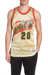 Mitchell And Ness Nba Gold Payton Jersey