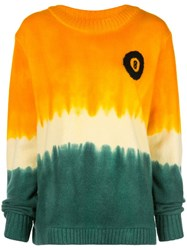 The Elder Statesman Tie Dye Effect Sweatshirt Orange