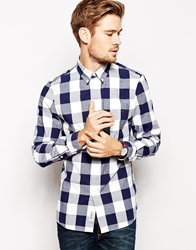 Jack Wills Shirt With Oversized Gingham Check Blue