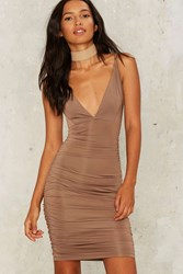 Marian Midi Dress Brown