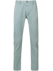 Closed Casual Fitted Trousers Blue