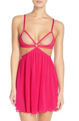 Women's Honeydew Intimates 'Lucy' Open Cup Babydoll And G String Berrylicious