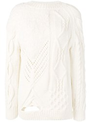 Almaz Detailed Knit Jumper White