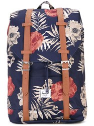 Herschel Supply Co. Floral Print Backpack Women Polyester Polyurethane One Size Blue