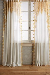 Anthropologie Adalet Curtain Yellow