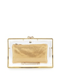 Stand Up Pandora Clear Clutch Bag Charlotte Olympia