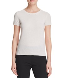 Bloomingdale's C By Short Sleeve Cashmere Sweater Snow