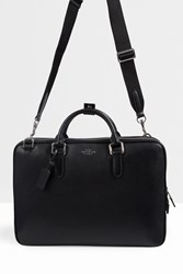 Smythson Deer Skin Slim Briefcase Black