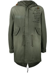 Mr And Mrs Italy Hooded Parka Men Cotton L Green