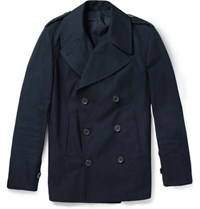 Dunhill Double Breasted Cotton Peacoat Navy