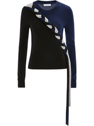 J.W.Anderson Jw Anderson Braided Colourblock Cashmere Jumper 60