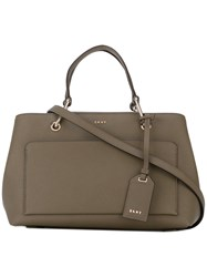Dkny Small Tote Women Calf Leather One Size Grey