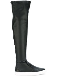 Pierre Hardy Rear Zip Knee Length Boots Black