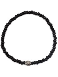 Luis Morais Dzi Beaded Bracelet Black