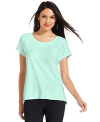 Styleandco. Style And Co. Petite Short Sleeve Tee Mystic Aqua