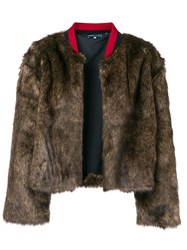Levi's Made And Crafted Faux Fur Jacket Brown