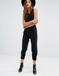 Religion Drop Armhole Jumpsuit Jet Black
