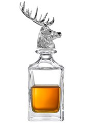 Deakin And Francis X Dartington Crystal Stag Silver Plated Decanter