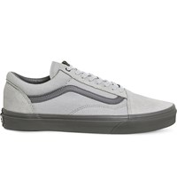 Vans Old Skool Canvas And Suede Trainers High Rise Pewter