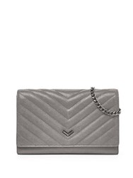 Botkier Soho Quilted Leather Wallet Grey