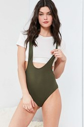 Out From Under Jane Crop Bodysuit Green