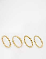 Made Ndiganu Stack Rings Gold