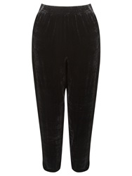 Ghost Tapered Velvet Trousers Black