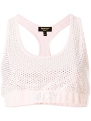 Juicy Couture Swarovski Embellished Velour Crop Top Pink And Purple