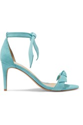 be41639cc74140 Alexandre Birman Clarita Bow Embellished Suede Sandals Sky Blue Gbp