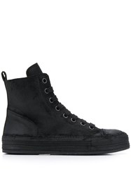 Ann Demeulemeester Distressed High Top Sneakers 60