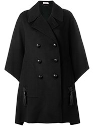 Coach Oversized Double Breasted Coat Black