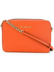 Michael Michael Kors Large Jet Set Crossbody Bag Yellow Orange