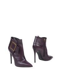 Gianmarco Lorenzi Footwear Ankle Boots Women Deep Purple