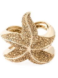 Roberto Cavalli Embellished Sea Star Bracelet Metallic