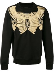 Les Hommes Jewel Embroidered Sweatshirt Men Cotton Metallic Fibre Xl Black