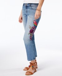 Inc International Concepts Embroidered Cropped Jeans Only At Macy's Indigo