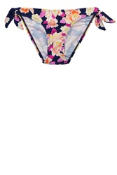 Oasis Watercolour Orchid Bow Side Pants Multi Coloured