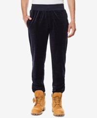 Sean John Men's Classic Fit Velour Travel Jogger Pants Created For Macy's Black