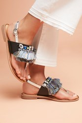 Gioseppo Frayed Sandals Black