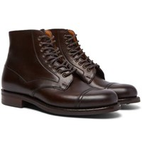 Cheaney Jarrow Cap Toe Leather Boots Brown
