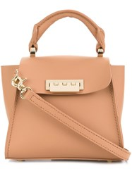 Zac Posen Mini 'Eartha Iconic Top Handle' Crossbody Bag Nude Neutrals