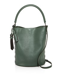 Max Mara Large Bucket Bag Dark Sage Green Silver