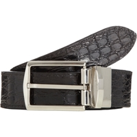 Barneys New York Reversible Crocodile Belt Black