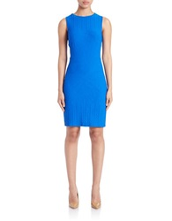 Julia Jordan Embroidered Sheath Dress Cobalt