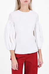 Rosie Assoulin Women S Puff Sleeve Top Boutique1 White