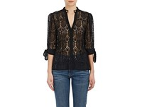 Maison Mayle Women's Nadege Corded Lace Blouse Black