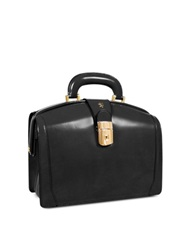 Pratesi Ladies Polished Italian Leather Briefcase Black