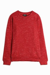 A.P.C. Jeremie Marl Sweater Red