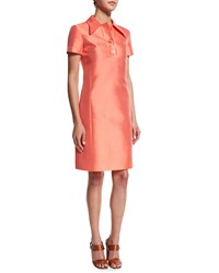 Michael Kors Short Sleeve Polo Dress Persimmon Red Women's