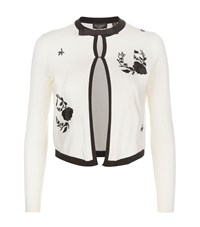 Ted Baker Scarlie Embroidered Cardigan Female White